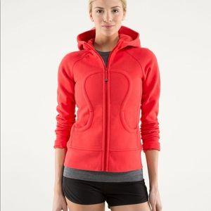 Lululemon red scuba hoodie
